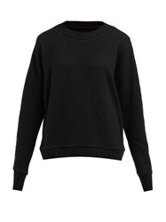The Elder Statesman Reg Forest Intarsia Cashmere Sweater Black Multi