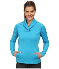 Spyder Manta Fleece Top Riviera Women's Long Sleeve Pullover Blue