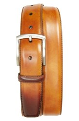 Magnanni Men's Big And Tall Tanning Leather Belt Cuero
