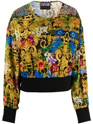 Versace Jeans Couture Baroque Print Long Sleeve Top 60