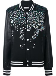 Night Market Sequin Embellished Bomber Jacket Black