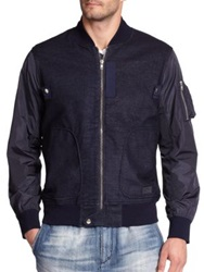 Prps Cotton And Nylon Zip Jacket Navy