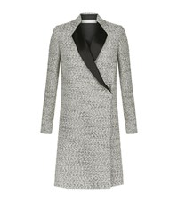 Victoria Beckham Speckled Boucle Tailored Coat Female Grey