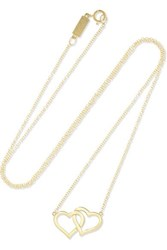Jennifer Meyer Open Heart 18 Karat Gold Necklace One Size