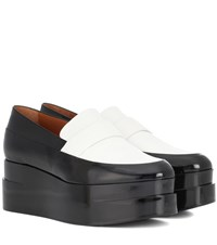 Clergerie Lynn Platform Leather Loafers Black