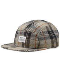 Norse Projects Tartan Check 5 Panel Cap Brown