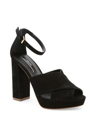 Kensie Poliana Suede Dress Sandals Black