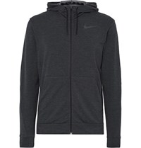 Nike Training Dri Fit Jersey Zip Up Hoodie Charcoal