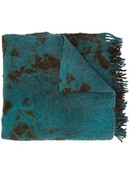 Suzusan Abstract Pattern Knitted Scarf 60