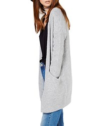 Miss Selfridge Slouchy Knitted Cardigan Grey