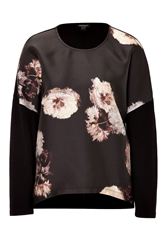 Giambattista Valli Silk Blend Top With Floral Print