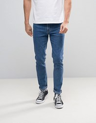 Asos Skinny Jeans In Retro Mid Wash Mid Wash Blue