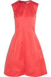 Jil Sander Satin Dress Orange