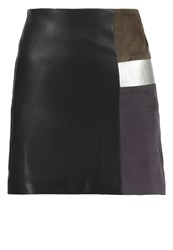 Morgan Jelki Mini Skirt Noir Black