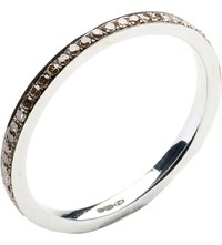 Annoushka Eclipse 18Ct White Gold And Brown Diamond Eternity Ring