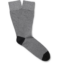 Corgi Two Tone Cotton Blend Socks Gray