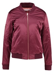 Soaked In Luxury Bomber Jacket Winetasting Dark Purple