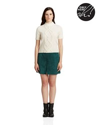 424 Fifth Cashmere Short Sleeve Sweater