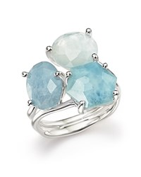 Ippolita Sterling Silver Rock Candy Wonderland Semi Precious Multi Stone Doublet Cluster Ring In Light Blue Blue Silver