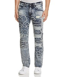 Prps Goods And Co. Ps4 Patchwork Slim Fit Jeans In Indigo