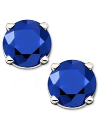 Macy's Sapphire Stud Earrings In 14K Gold 1 Ct. T.W.