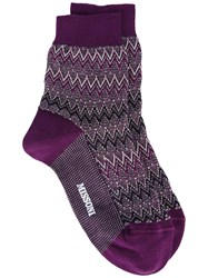 Missoni Chevron Socks Pink Purple