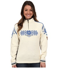 Dale Of Norway Holmenkollen Feminine Off White Navy Cobalt Women's Sweater Khaki