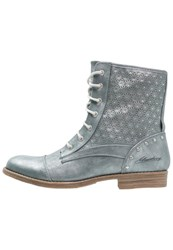 Mustang Laceup Boots Heaven Light Blue