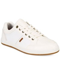 Levi's Men's Gilroy Pebbled Sneakers Men's Shoes Off White