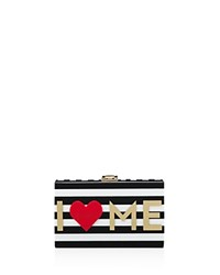 Milly I Heart Me Box Clutch Multi Gold