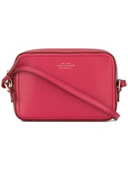 Smythson Camera Crossbody Bag Red