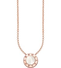 Thomas Sabo Glam And Soul Classic Rose Gold Plated Stering Silver Necklace