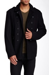 Rogue Double Breasted Split Collar Coat Black