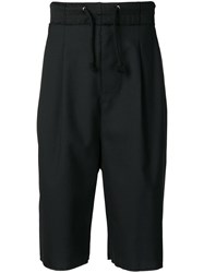 Maison Martin Margiela Drawstring Long Shorts Black
