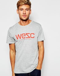 Wesc Logo T Shirt Grey