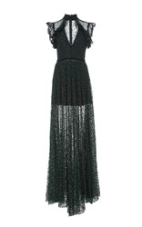 Alexis Eleanora Cap Sleeve Lace Gown Green
