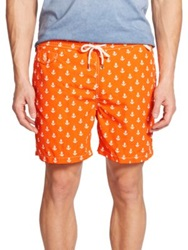 Polo Ralph Lauren Traveler Anchor Print Swim Shorts Orange