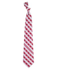 Eagles Wings Indiana Hoosiers Checked Tie Team Color