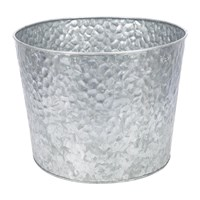 Amara Large Hammered Galvanised Plant Pot