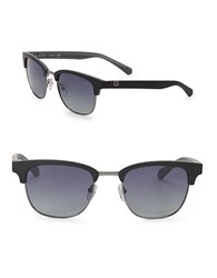 Guess 52Mm Square Polarized Sunglasses Black Smoke