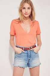 Truly Madly Deeply Notched Neck Tee Orange