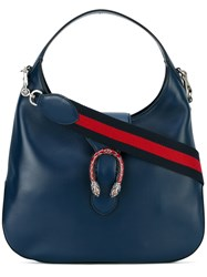 Gucci Dionysus Web Detail Hobo Bag Women Leather One Size Blue