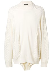 Y Project Layered Sweater White