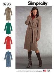 Simplicity 'S Coat Sewing Pattern 8796