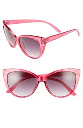 A. J. Morgan Women's A.J. Spicy 53Mm Cat Eye Sunglasses Hot Pink