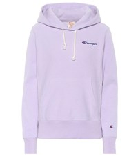 Champion Cotton Hoodie Purple