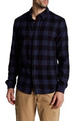 Alternative Apparel Expedition Long Sleeve Flannel Shirt Blue