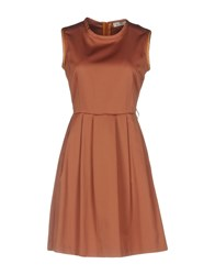 Ottod'ame Short Dresses Brown