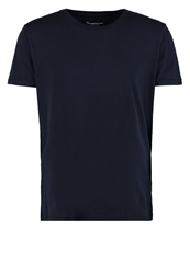 Knowledge Cotton Apparel Basic Tshirt Dunkelblau Dark Blue