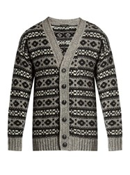 Marc Jacobs Oversized Icelandic Knit Cardigan Grey